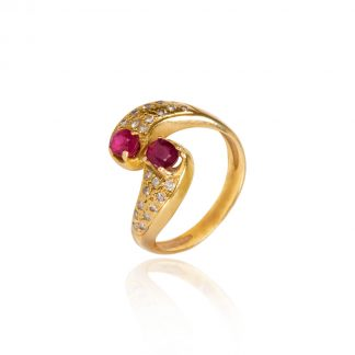 Vintage Gold Ruby Ring