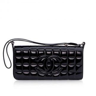 Vintage Chanel Chocolate Bar Evening Bag